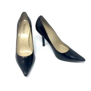 Guess Black Leather Pumps Heels 6.5